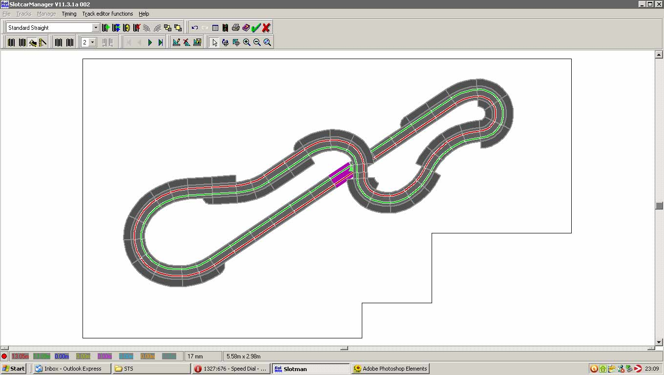 free slot car track layout software